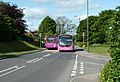 Buses on the A617 through Glapwell - geograph.org.uk - 2418307.jpg