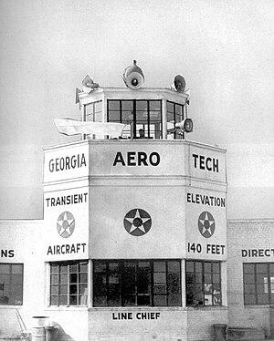 Augusta Regional Airport - Control Tower at Bush Field