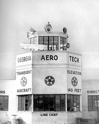 Augusta Regional Airport - Control Tower at Bush Field