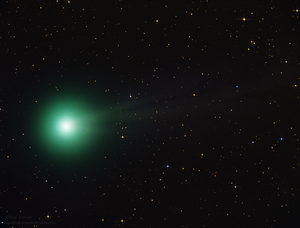Diatomic carbon - C/2014 Q2 (Lovejoy) glows green due to diatomic carbon.