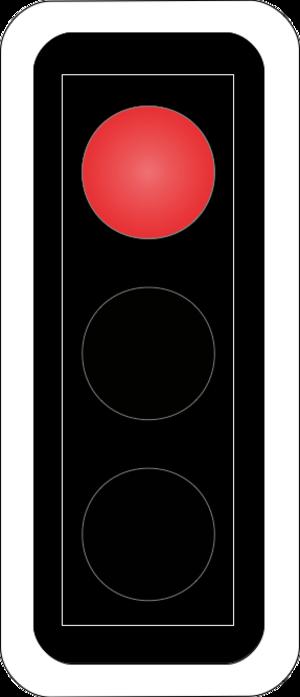 Road signs in Switzerland and Liechtenstein - Image: CH SSV Lichtsignal Art 68 Red