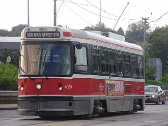 Toronto streetcar system - Canadian Light Rail Vehicle (CLRV)