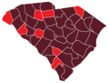 COVID-19 Cases by counties of South Carolina.png