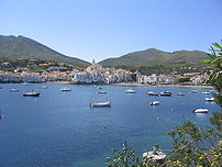 The quaint town of Cadaqués, a popular tourist...