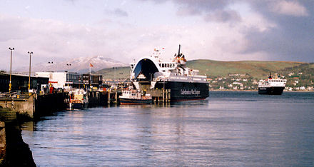 The Caledonian MacBrayne headquarters building at Gourock pierhead and a visit from MV Caledonian Isles and MV Isle of Mull