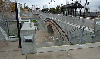 Santa Clara station (California) - The new pedestrian tunnel as it appeared in 2012