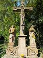 Calvary. St. John the Evangelist and Virgin Mary statues. Listed ID 5919. - Jászberény, Hungary.JPG