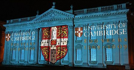 Light show on the Senate House, for the 800th anniversary of the foundation of the university CamLight.jpg