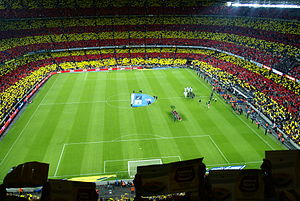 Camp nou before F.C. Barcelona - Real Madrid league match of 2012.JPG