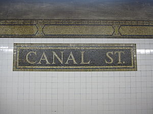Canal Street (IRT Broadway–Seventh Avenue Line) - Mosaic with name