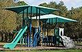 Canopied playground slide at John S Taylor Park.JPG