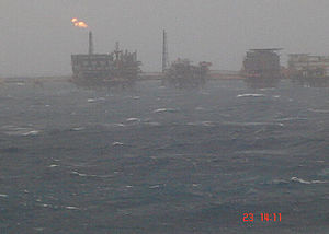 Cantarell Field - Cantarell offshore rigs, November 2007
