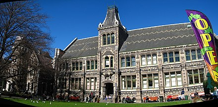 Old Chemistry Building, Christchurch Arts Centre CanterburyCollegeChemistry gobeirne.jpg