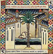 Representación de Elche en las Cantigas de Santa María, siglo XIII.