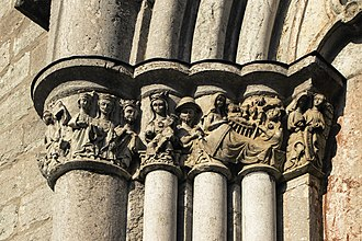 Bro Church, Gotland - Carved capitals on the southern portal