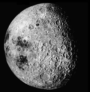 Origin of the Moon - The Moon's heavily cratered far-side