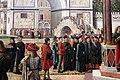 Carpaccio, storie di s.orsola 03, Ritorno degli ambasciatori alla corte inglese, 1495 ca. 08.JPG
