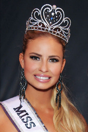 Miss California USA -  Cassandra Kunze, Miss California USA 2014, Long Beach, California on January 4, 2014.
