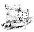 Castello d'Ussel, fronte a mezzodì, fig 125 disegno nigra sulla base di schizzo D Andrade.tiff