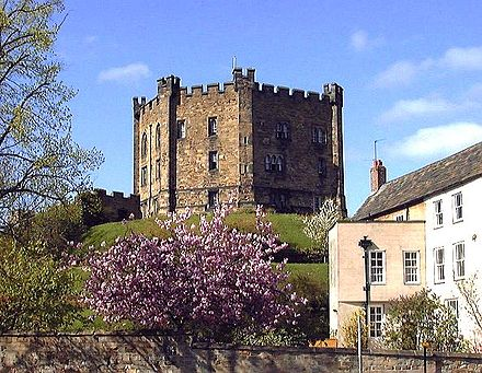 Durham Castle, half of the Durham World Heritage Site, was a symbol of Norman power in the North. Castlekeep.jpg