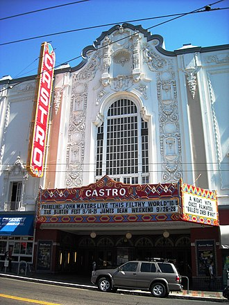 Castro Theatre - The Castro Theatre in San Francisco anchors The Castro business district.