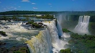 Foz do Iguaçu - Aerial view of Iguaçu falls.