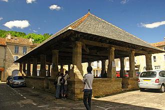 Caylus, Tarn-et-Garonne - Caylus village square