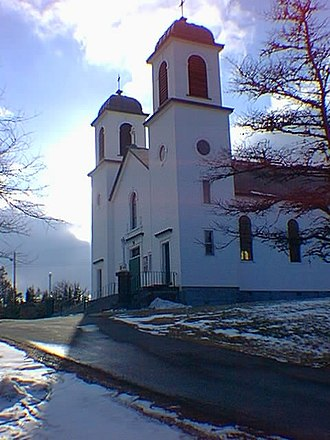 Northern Bay, Newfoundland and Labrador - Corpus Christi Church (Winter 2002)
