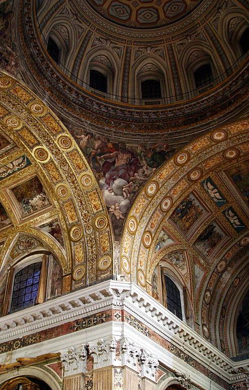 Intérieur du Gesù Nuovo à Naples. Photo de José Luiz.