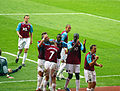 Celebrating a goal at West Ham versus Derby.jpg