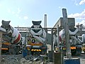 Cement mixer trucks, Kirtling Street, London SW8.jpg