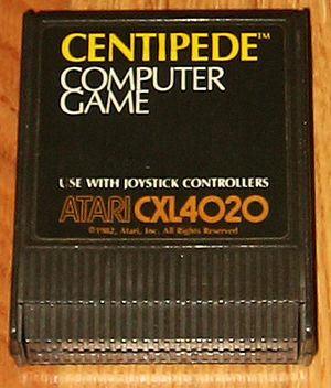 Centipede (video game) - Cartridge for Atari 8-bit computers (1982)