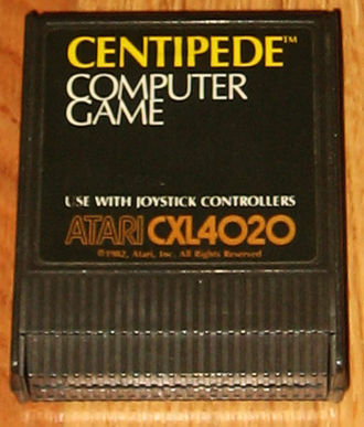 Centipede (video game) - Cartridge for Atari 8-bit computers (1982)
