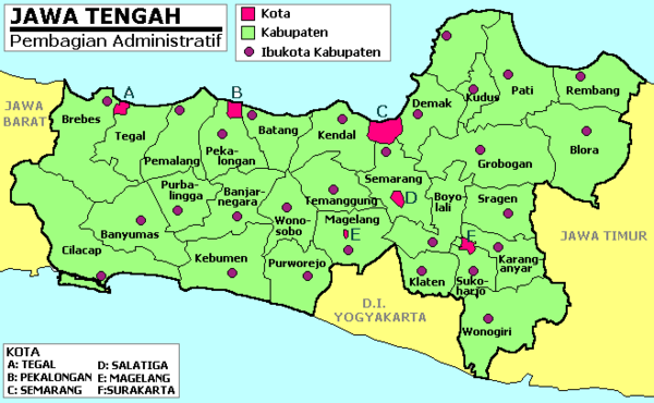 Regencies in Central Java
