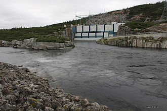 Brisay generating station - Image: Centrale hydroélectrique Brisay