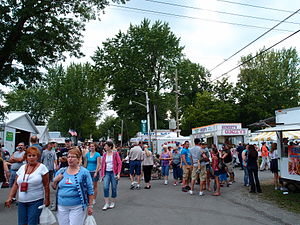 Grange Fair - Fairgoers at the Grange Fair