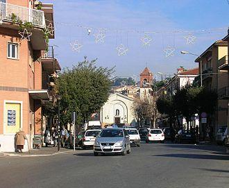 Cecchina - Image: Centro Cecchina la via nettunense