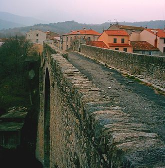 Second Battle of Boulou - Pont du Diable in Céret, looking south toward the Pyrenees