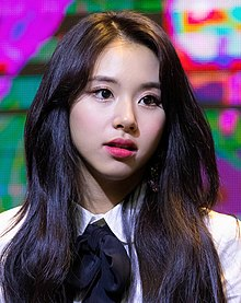 Chaeyoung at a fansigning event on November 25, 2018 (2).jpg
