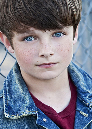 Subject 13 - Chandler Canterbury (pictured) replaced Quinn Lord in portraying Young Peter Bishop.