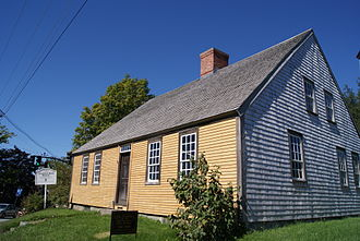 Damariscotta, Maine - Chapman-Hall House at 270 Main Street. Built in 1754, it is the oldest building in Damariscotta and one of the oldest in Maine. It was entered into the National Register of Historic Places in 1970.