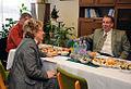 Chargé Levine met with Szekeres Andrásné, Principal of Petőfi Elementary School.jpg