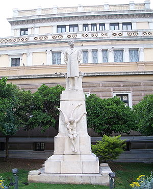Charilaos Trikoupis - Statue to Trikoupis outside the Old Parliament in Athens.