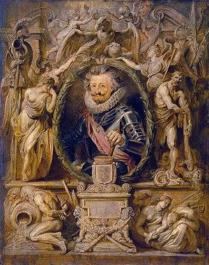 Charles Bonaventure de Longueval, Count of Bucquoy - Portrait by Peter Paul Rubens.