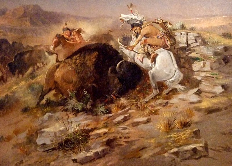 File:Charles Marion Russell - Buffalo Hunt.jpg