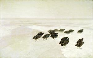 Chełmoński Partridges in the snow.png