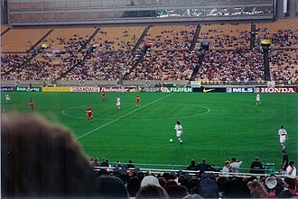 Chicago Fire Soccer Club - The Fire (in red) at home to the Dallas Burn in July 1998