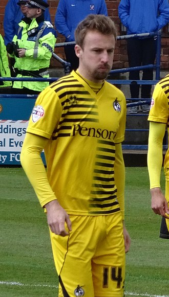 Chris Lines - Lines playing for Bristol Rovers in 2016