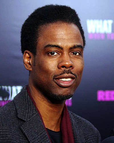Chris Rock, American comedian, actor, screenwriter, television producer, film producer, and director