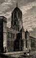 Christ Church, Oxford; Tom Gate. Etching by J. Whessell. Wellcome V0014084.jpg